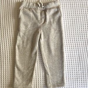 Oatmeal colored thick knit sweatpants